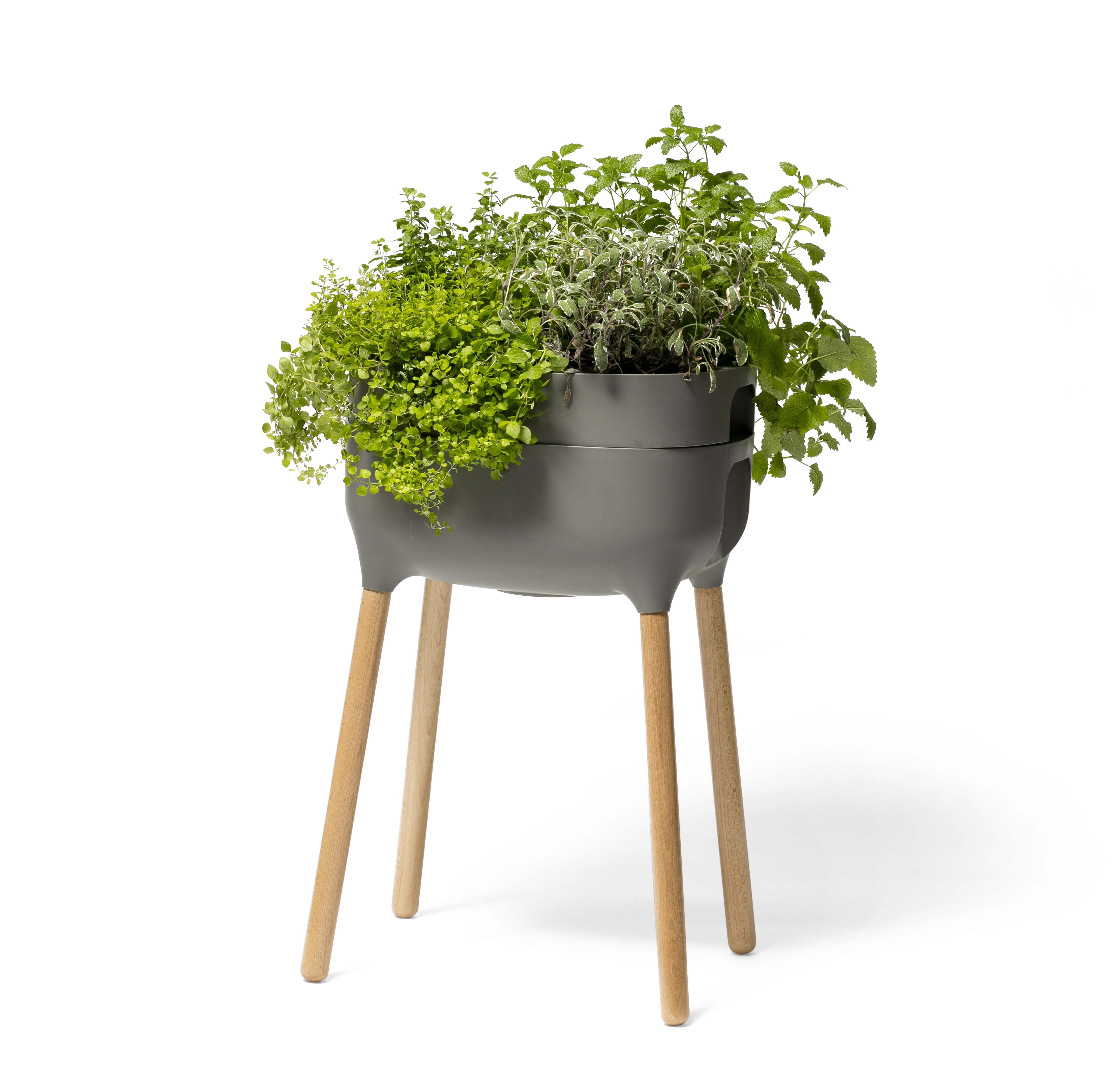 Vysoká samozavlažovací pěstební nádoba Urbalive - antracit světlý