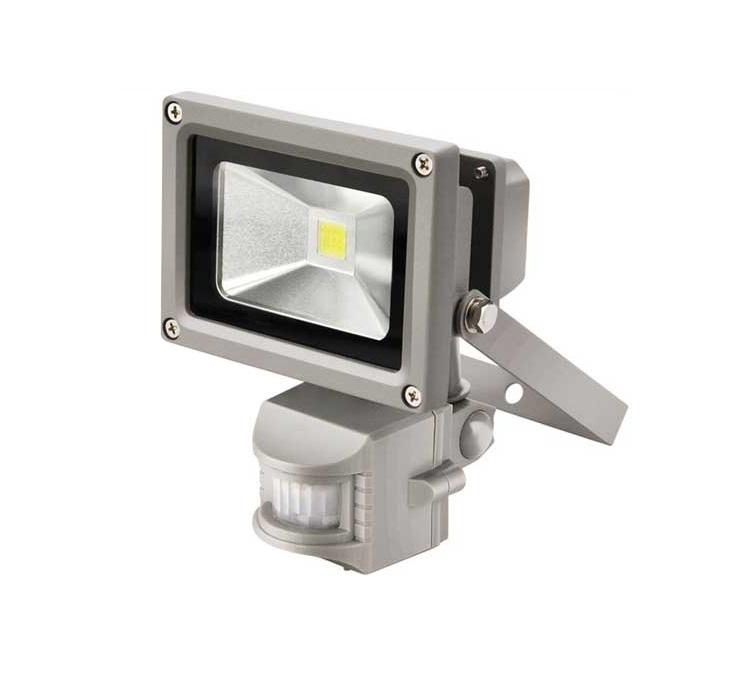 Úsporný LED reflektor 10W s konzolou a PIR čidlem na plašení kun