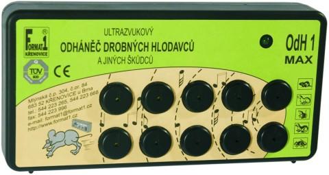 Profesionální ultrazvukový odpuzovač kun a myší ODH1-MAX - adaptér ZDARMA