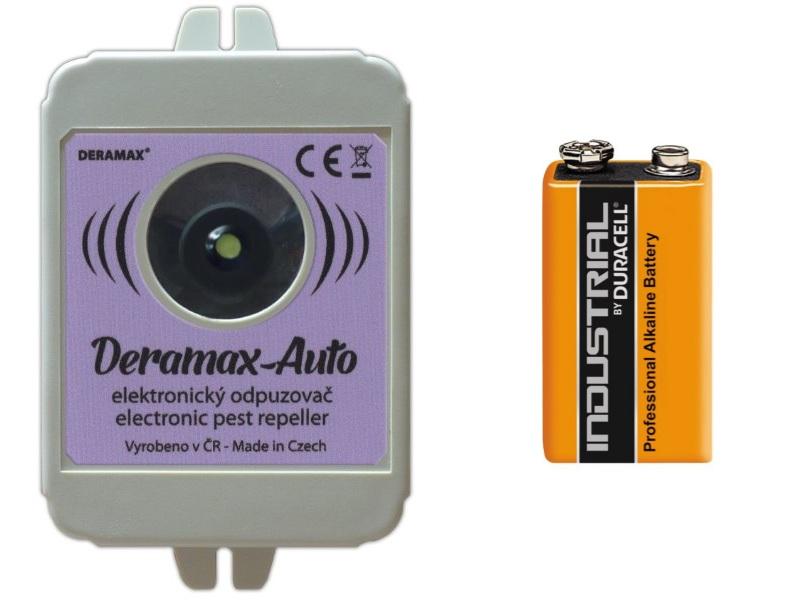 Deramax AUTO s alkalickou baterii DURACELL 9V