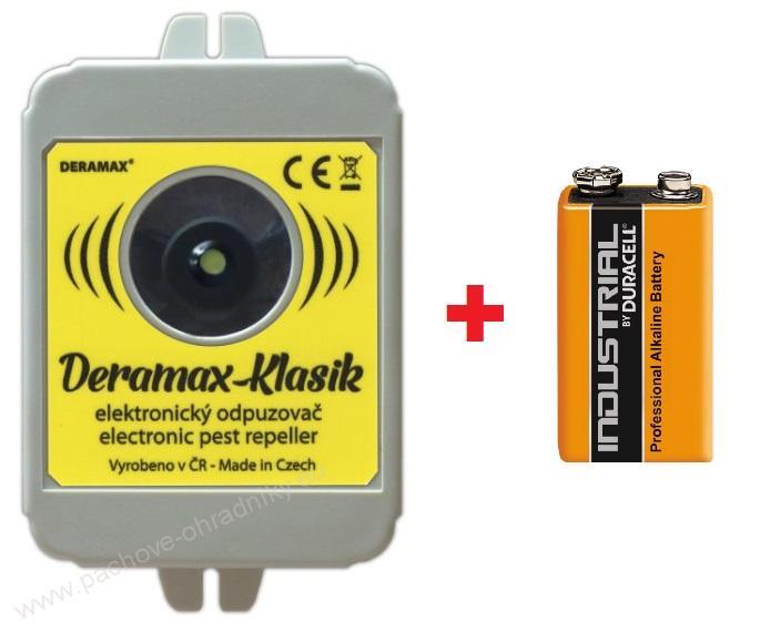 Deramax Klasik ultrazvukový odpuzovač myší a kun s baterií