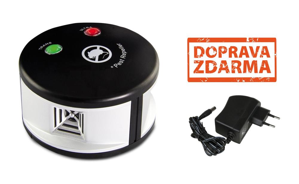 Všesměrový ultrazvukový odpuzovač kun a myší - dosah 500 m2.