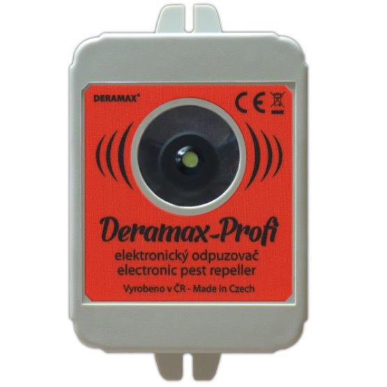 Deramax-Profi - ultrazvukový odpuzovač myší a kun- se zdrojem