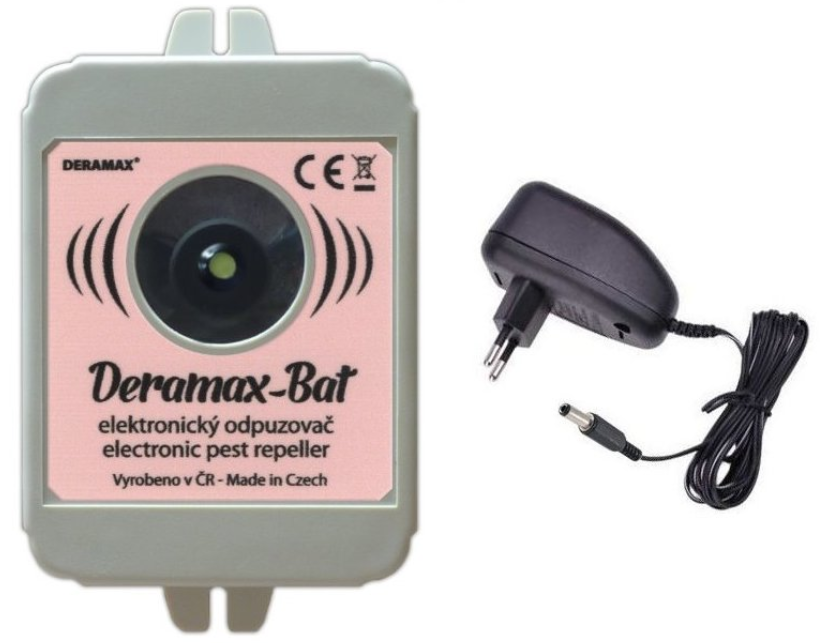 Deramax Bat - odpuzovač netopýrů včetně síťového adaptéru