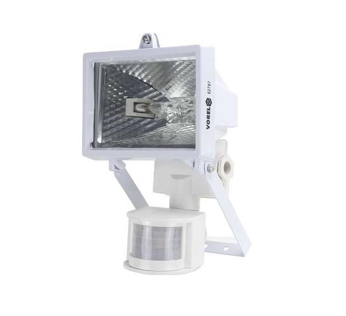 Halogenový reflektor s pohybovým čidlem - proti kunám 120W bílá