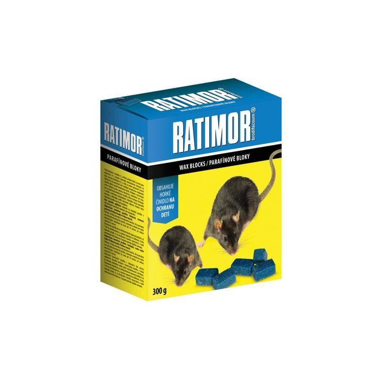 RATIMOR - jed na hlodavce - parafínové bloky 300g.