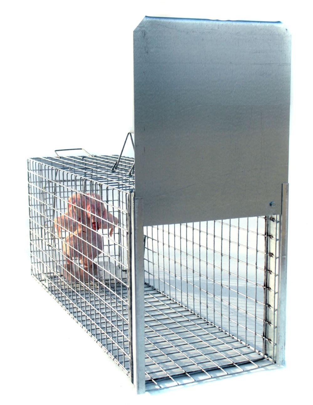 Profesionální odchytová past - sklopec na psy, lišky, vydry kuny - 105x34x42 - síla drátu 3,5 mm