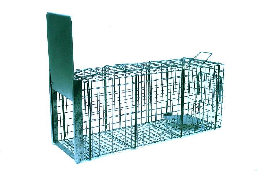 Profesionální odchytová past - sklopec na psy, lišky, vydry kuny - 105x34x42