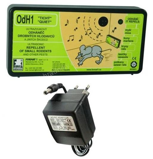 Tichý ultrazvukový odpuzovač myší a kun