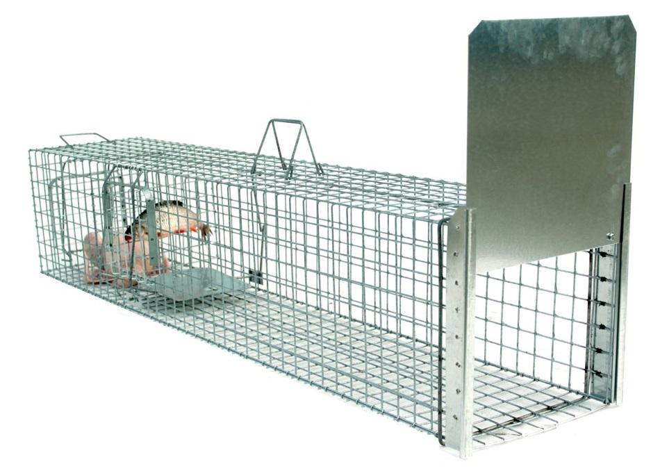 Profesionální sklopec s komorou na živou návnadu - lišky, vydry kuny - 130x34x34 - síla drátu-3,5 mm