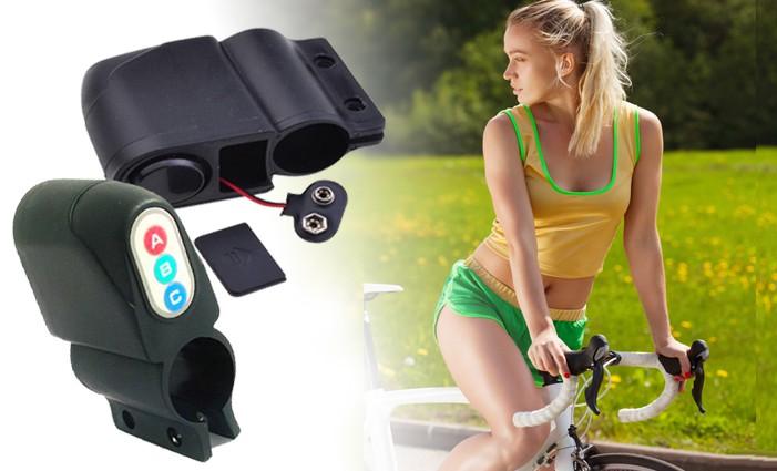 Alarm na kolo, elektrokolo, skútr s otřesovým čidlem a sirénou - cykloalarm.