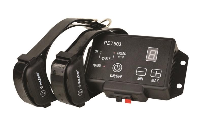 Petrainer PET803-2 elektrický ohradník pro 2 psy - neviditelný plot pro psy