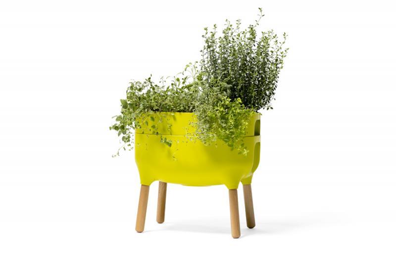 nízká samozavlažovací pěstební nádoba Urbalive - světle zelená