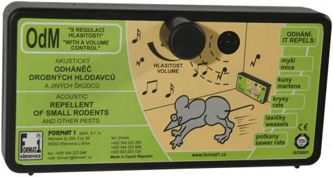 Zvukový odpuzovač kun a myší ODM s regulací hlasitosti