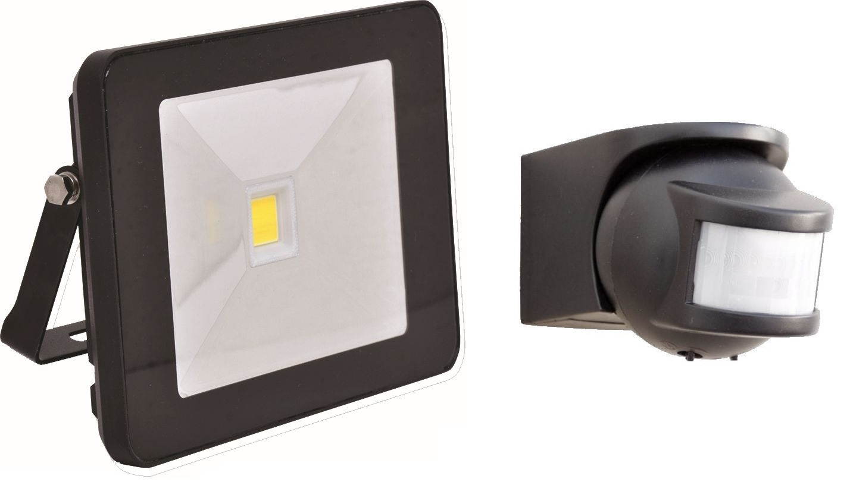 Reflektor LED 20 W / 1600 lm / černý se samostatným  pohybovým čidlem.