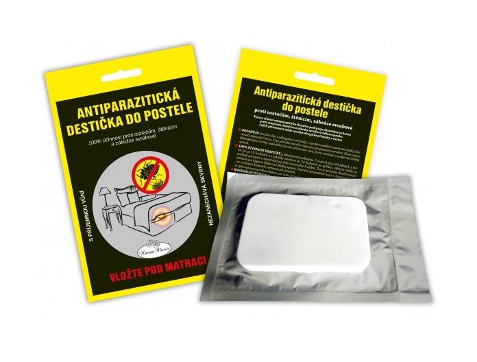 Antiparazitická destička proti štěnicícm a roztočům.