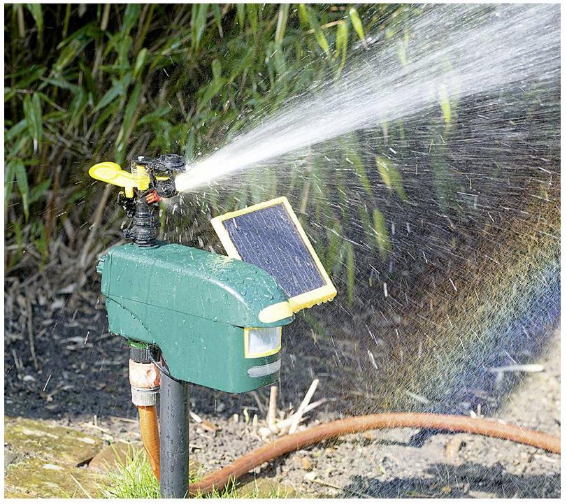 Vodní odpuzovač škůdců se solárním nabíjením a detektorem pohybu