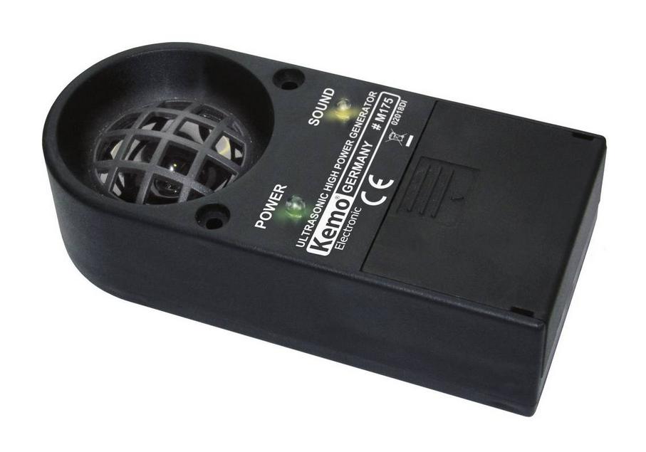 Ultrazvukový odpuzovač kun, psů, koček, ptáků a zvěře - Kemo M175