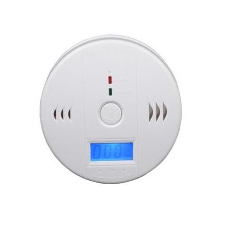 Detektor oxidu uhelnatého s alarmem, hlásič CO včetně 3 ks špičkových baterií