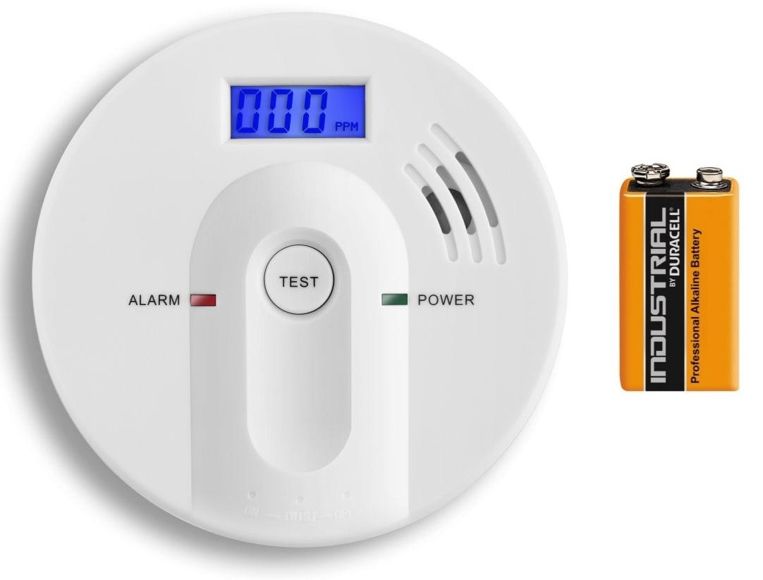 Detektor oxidu uhelnatého s alarmem, hlásič CO-603 - BATERIE 9V DURACELL ZDARMA
