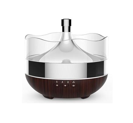 Luxusní smart aroma difuzer 400ml tmavý - dálkově ovládaný přes wifi