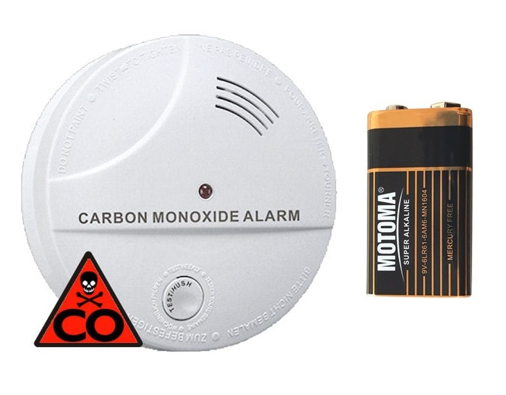 Detektor oxidu uhelnatého s alarmem hlásič CO Hutermann ALARM CO-04 s baterií