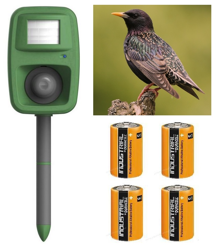 Odpuzovač ptáků - PEST STOP Sonic Bird - 4 baterie C zdarma